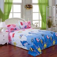 China Wholesale Hotestfashion pure Cotton undersea world blue ocean fish all around bedding sets wholesale