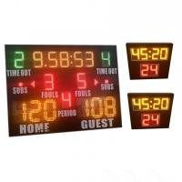 China World Cup Same Type LED Basketball Scoreboard , Portable Basketball Scoreboard wholesale