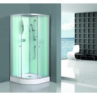 China Bath White Sector Shower Enclosure Shinning Chrome Framed With Mirror on sale