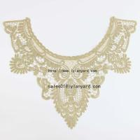China Gold Line Embroidery Costume Decor Sewing Applique Craft Collar Lace Trim wholesale