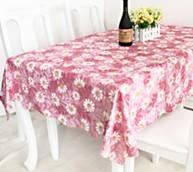 China Rectangular PVC Table Cloths Cover wholesale
