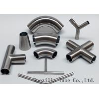 "China Equipment Usage Sanitary Valves And Fittings Stainless Steel Tee Welded End 1""x1""x1"" wholesale"
