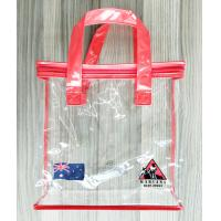 China Zippered Clear PVC Household Storage Bags Portable Transparent Shopping Bag With Handles wholesale