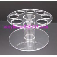 China HIGH QUALITY ACRYLIC ROUND ICE CREAM CONE HOLDER DISPLAY STAND CARRIER wholesale