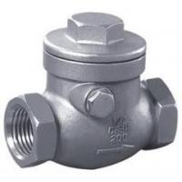 China stainless steel screw awing check valve;check valves;NPT;bspt;200WOG;screw end;CF8'CF8M wholesale