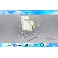 Quality Portable and Movable Retractable Metal Clothes Drying Rack with ABS Plastic for Commercial for sale