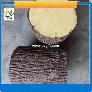 China UVG realistic china fir stool model GRC fiberglass fake tree stump for park decoration CHR151 wholesale