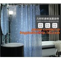 China Mould Proof Waterproof white and black trellis design pvc custom bath curtain printed shower curtain, High quality Polye wholesale