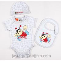 China 3pcs Newborn Baby gift sets  100% cotton with PRINT wholesale