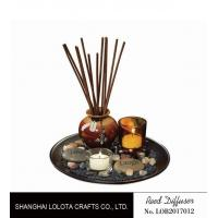 China Brown Room Reed Diffuser For Large Room , Ceramic Aromatherapy Diffuser wholesale
