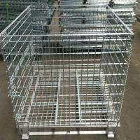 China Heavy Duty 50mm Galvanized Welded Metal Storage Cages for Transportation wholesale