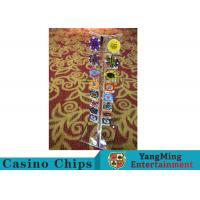 Casino Acrylic Poker Chips Case Casino Chips Carrier For Round 40 - 42mm Chips for sale