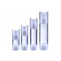 China 30ML 50ML 100ML Airless Cosmetic Emulsion Bottle Plastic Packaging wholesale