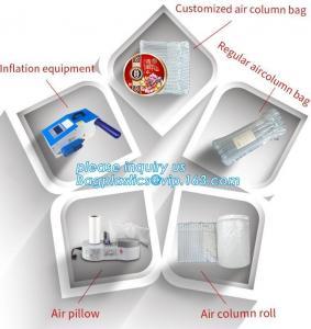 China cushion pillow air bag, cushion pillow dunnage air bag, air poly packing bag nylon air bubbles air pillow bag, bagplasti wholesale