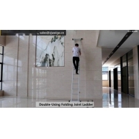 China Collapsible 7.02m 2X13 Folding Step Ladder wholesale