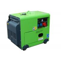 Quality 4.5kw diesel silent portable generator green color 100% Copper 1 phase for sale