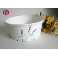 China 32oz PE Coated Food Grade Paper Salad Bowls With Plastic Cover / Single Wall wholesale