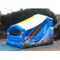 China Outdoor Kids Sea World Small Inflatable Slide With Cover On Top For Parties wholesale