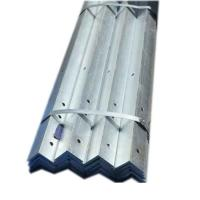 China Hot Rollled Hot Dip Galvanized Steel Angle JIS Standard Thick Zinc Coating on sale