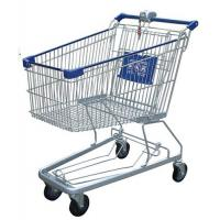 Buy cheap Multi - Function Wire Shopping Carts USA Type Coin Locked Metal Shopping Basket from wholesalers