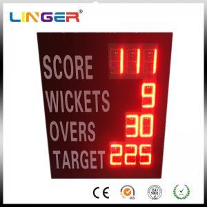 China Waterproof Iron Cabinet Portable Electronic Cricket Scoreboard Low Power Consumption wholesale
