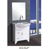 China 70 X48X85/cm PVC floor mounted bathroom cabinet / bathroom vanity / with mirror for bathroom wholesale