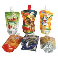 China Corrosion Resistant Bopp / Vmcpp Color Printed Food Packaging Pouches With Spout For Milk / Jelly wholesale