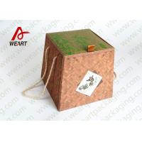 China Bamboo Made Double Faced Foldable Paper Box For Food Products 24 X 24 X 8cm wholesale