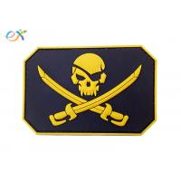China Custom Made 3D Logo Embossing Rubber Morale Patches With Velcro Backing wholesale