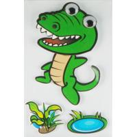 China Personalised Crocodile 3D Cartoon Stickers Paper Layered For Bedroom Wall Decorative wholesale