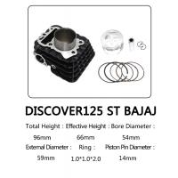 Buy cheap Discover125 ST BAJAJ Cylinder Kit Black Color With 54mm Bore Diameter from wholesalers