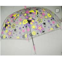 China Colorful Clear Canopy Bubble Dome Umbrella Plastic Hook Handle Stick Metal Frame wholesale