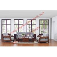 Solid Wood Sofa with Upholstery for Luxury Living Room Made in China