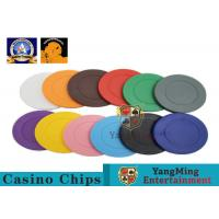 Quality Lightweight ABS Hotstamping Logo Dice Poker Chip / Colorful Roulette Poker Chips for sale