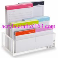 China Acrylic memo holder tabletop clear plexiglass paper note holder wholesale