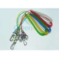 China Fashion PU Coated Fishing Rod Lanyard Colored Stainless Steel Extended 3M wholesale