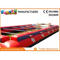 Buy cheap 0.55mm PVC Tarpaulin Inflatable Sports Games , Outdoor Human Table Football from wholesalers