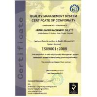 Jinan Leader Machinery Co.,Ltd Certifications