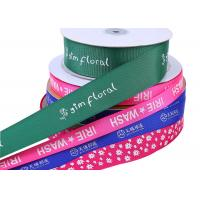 Quality Single Side Soild Color Ersonalised Grosgrain Ribbon Custom Gift Wrapping for sale