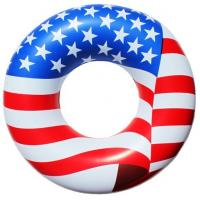 China American Flag Inflatable Swimming Rings Pvc With EN71 Standard wholesale