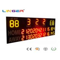 China Outside UV Protection 12 / 20 Inch LED Electronic Baseball Scoreboard in Yellow and Red Color wholesale