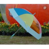 China Off Set See Through Umbrella , Ladies Rainbow Bubble Umbrella Automatic Open wholesale