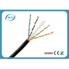 China Single PE Cat6 Network Ethernet Cable / 8 Core Copper Cat6 UTP Network Cable Black wholesale