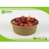 China Disposable Kraft Brown Paper Salad Bowls Food Container with Clear Lids wholesale
