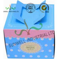 China Full CMYK Printing Cardboard Food Storage Boxes Glossy / Matte Finish Blue Color wholesale