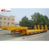 China Heavy Duty Hydraulic Low Bed Semi Trailer Swan Neck Gooseneck Light Yellow wholesale