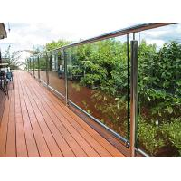 China Stain Mirror Balcony Glass Baluster Deck Railing Fashionable Tempered Glass Balusters wholesale
