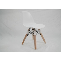 China Modern Dining ODM White Plastic Chair With Wooden Legs wholesale