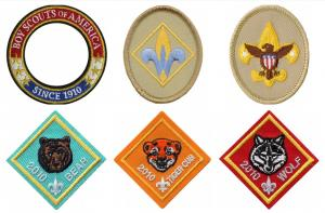 China Stick On Shrink Proof 3D Boy Scout Rank Patches For BSA Uniform wholesale