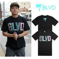 China Wholesale Newly Men's BLVD active top designer round collar short sleeve hip-hop T-shirt wholesale